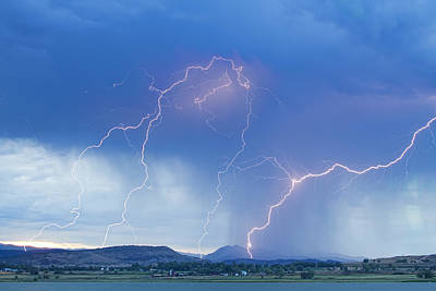 Rocky Mountain Foothills Lightning Strikes Poster by James BO  Insogna
