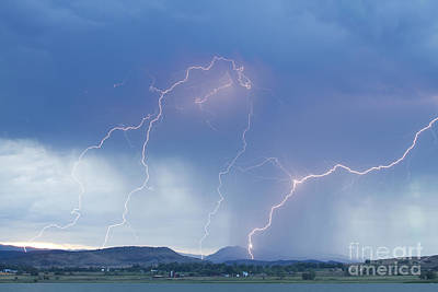 Rocky Mountain Front Range Foothills Lightning Strikes Poster