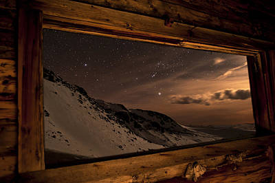 Rocky Mountain Nightscape Picture Window Poster by Mike Berenson