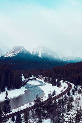 Rocky Mountains Poster by Kim Fearheiley