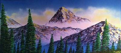 Poster featuring the painting Rocky Mountains by Michael Rucker