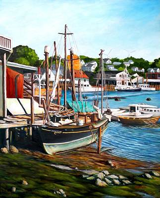 Rocky Neck October Poster by Eileen Patten Oliver