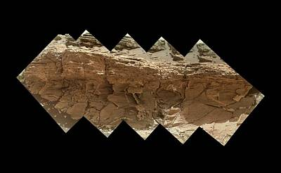 Rocky Outcrop On Mars Poster by Nasa/jpl-caltech/msss