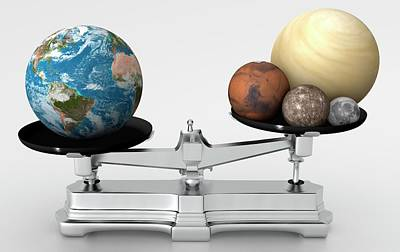 Rocky Planets' Mass Compared To Earth Poster by Mark Garlick