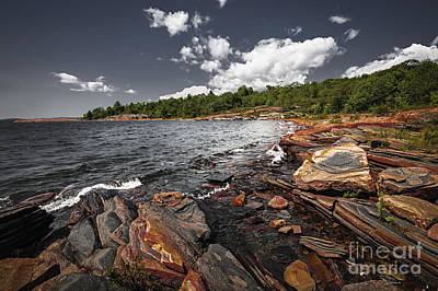 Rocky Shore Of Georgian Bay I Poster