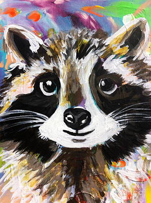 Rocky The Raccoon Poster by Kim Heil