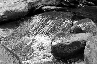 Rocky Waters Bw Poster