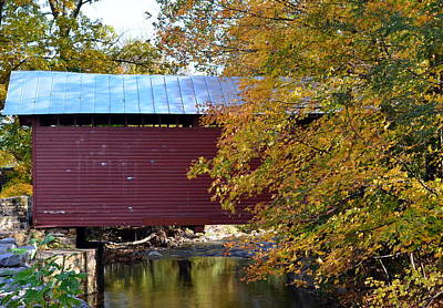 Roddy Road Covered Bridge Poster by Cathy Shiflett