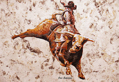 Rodeo 1 Poster by J- J- Espinoza