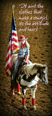 Rodeo Cowgirl Poster by Stephen Stookey
