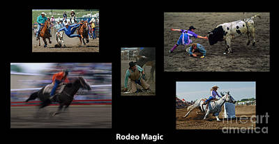 Rodeo Magic With Caption Poster by Bob Christopher