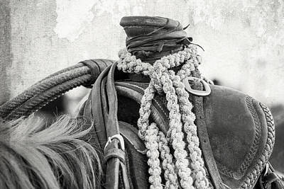 Rodeo Saddle Vintage Poster by Steven Bateson