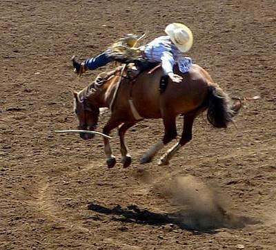 Rodeo Time Bucking Bronco 2 Poster by Susan Garren