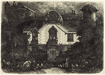 Rodolphe Bresdin French, 1822 - 1885, The Haunted House Poster by Quint Lox