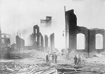 Roebling Wire Works After Fire, 1915 Poster by Science Photo Library