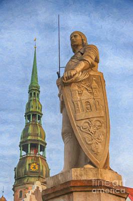 Roland Of Riga Painting Poster by Antony McAulay