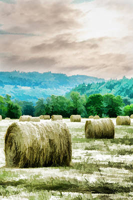 Rolled Bales Poster by Mick Anderson