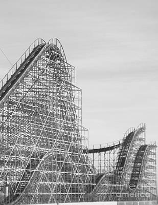 Roller Coaster Wildwood Poster by Eric  Schiabor