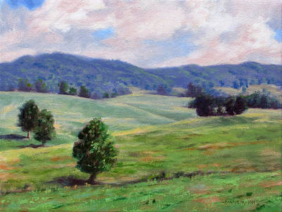 Rolling Hills Poster by Bonnie Mason