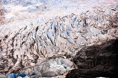 Rolling Ice Peaks Poster by Davina Washington