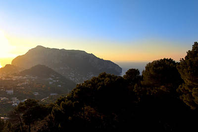 Rolling Landscape Of Capri As Day Ends Poster by Mark E Tisdale