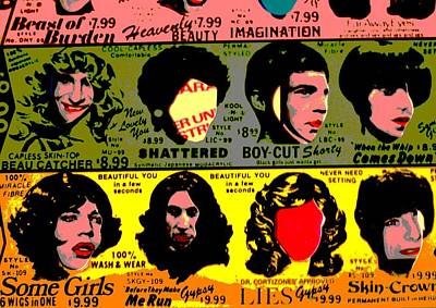 Rolling Stones Pop Art Poster by Dan Sproul