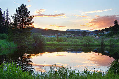 Rollinsville Colorado Sunset Poster