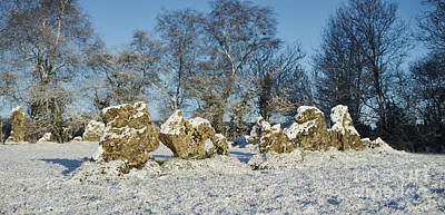 Rollright Stones In Winter Poster