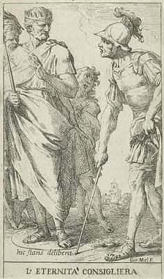 Roman Consul Popilius Laenas Draws A Circle In The Sand Poster by Jan Miel