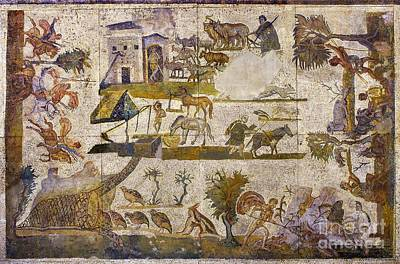 Roman Country Life Mosaic Poster by Sheila Terry