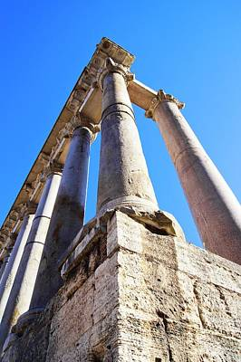 Roman Forum Pillars. Poster