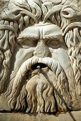 Roman Fountain High Relief, Carthage Poster by Nico Tondini