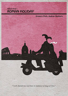 Roman Holiday Poster by Ayse Deniz