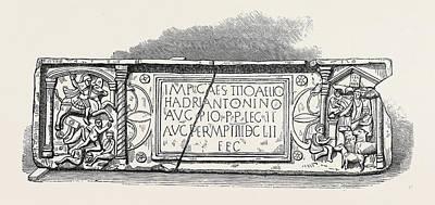 Roman Legionary Tablet Found At Bridgeness Linlithgowshire Poster