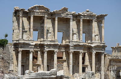Roman Library Of Celsus Poster by Christiane Schulze Art And Photography