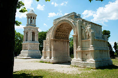 Roman Mausoleum And Triumphal Arch Poster by Panoramic Images