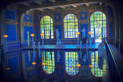 Roman Pool Reflection Hearst Castle Poster
