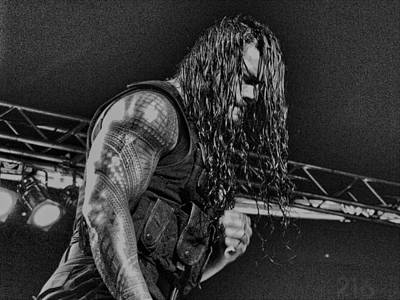 Roman Reigns Charcoal By Gbs Poster by Anibal Diaz