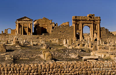 Roman Ruins Of Sufetula In Town Poster