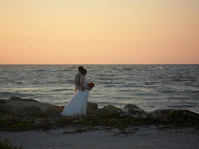 Romance In Captiva Poster by Val Oconnor