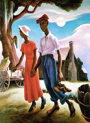 Romance Poster by Thomas Benton