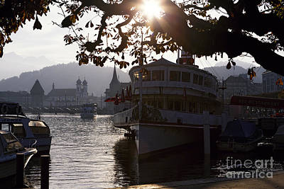Romantic Afternoon Scenic In Lucerne Poster