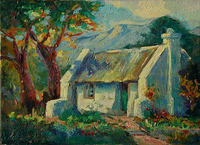 Romantic Cape Cottage Poster by Thomas Bertram POOLE