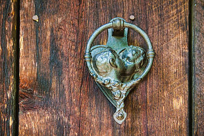Romantic Kissing Door Knocker Poster by James BO  Insogna