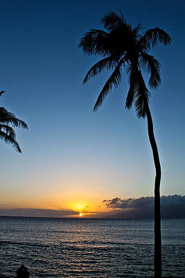Romantic Maui Sunset Poster