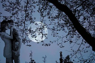 Romantic Moon 2  Poster by Angel Jesus De la Fuente