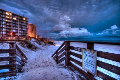 Romar Beach Clouds Poster by Michael Thomas