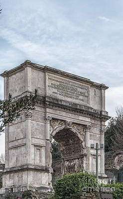 Rome Arch Of Titus Poster by Antony McAulay