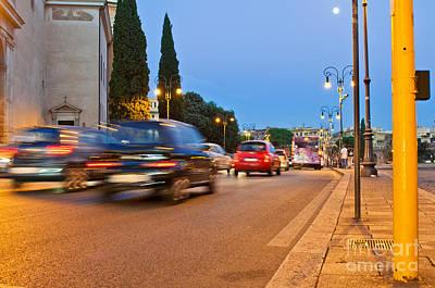 Rome At Night Poster