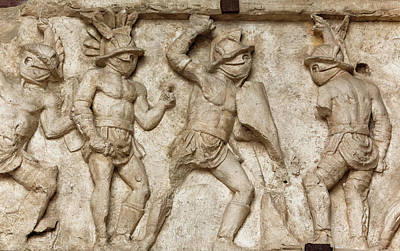 Rome, Italy. Bas Relief Poster